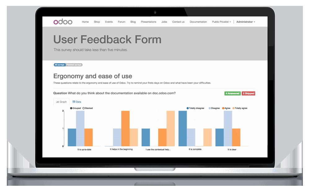 Odoo - geri dönüş forması | ERPGO